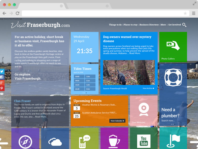 We created a community portal for Visit Fraserburgh.